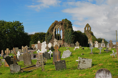 Tomhaagard is a village found along the Norman Way in Wexford, Ireland. It contains a holy well and a ruined medieval church with a double bellcote.